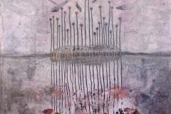 Raffaele Boemio-Quasi svelato- tec.mista su tela cm.120x90  2017