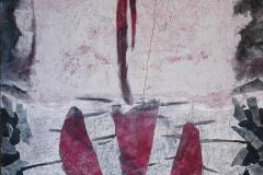 Raffaele Boemio - Quasi svelato -tec.mista su tela cm.150x125 2017